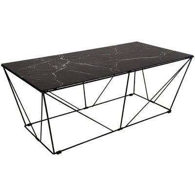 Cube Sofabord - Glass/svart