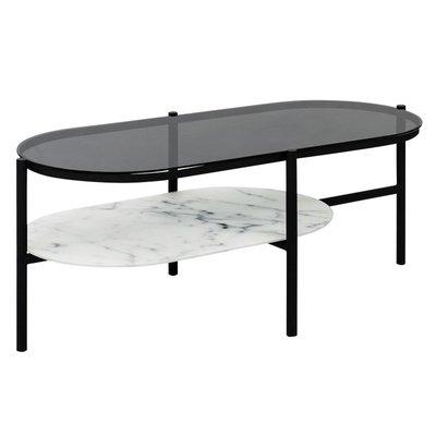Worcester sofabord - marmor/svart glass