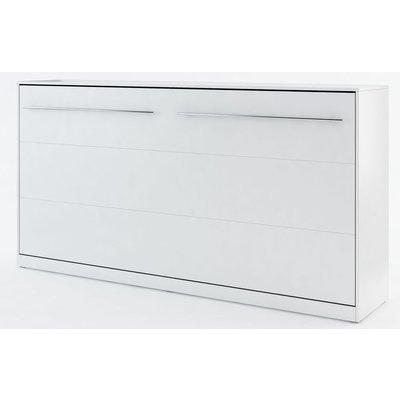 Sengeskap compact living horisontalt (90 x 200 cm fellbar seng) - Hvit