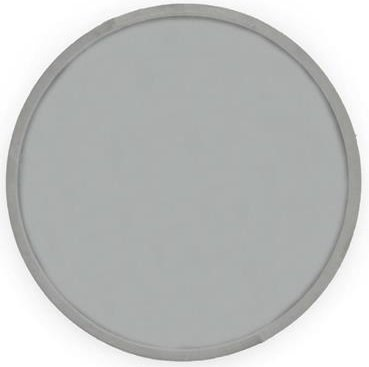 Velvet rund Speil 40 cm - Beige/grå fløyel