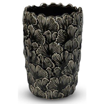 Vase Ginkgo H22 cm - Svart