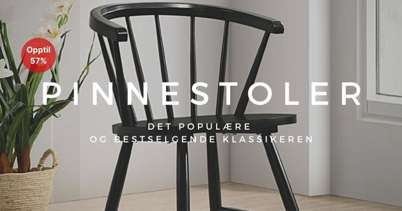 Pinnestoler - Opptil 57%