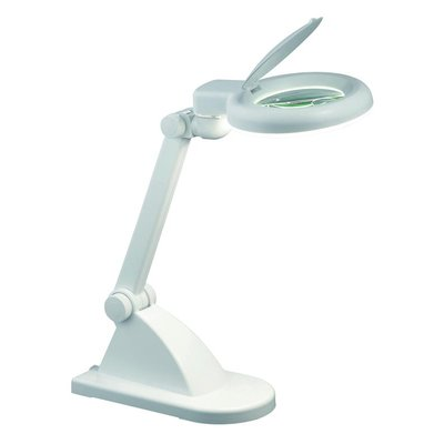 Storå Bordlampe med forstørrelsesglass - Hvit