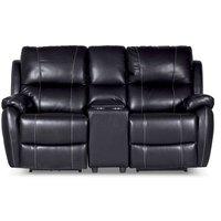 Enjoy Chicago Biosofa - 2-seter sofa recliner (el) i svart kunstskinn