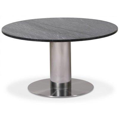 Next 85 rundt stuebord - Børstet stål / marmor (Grå)
