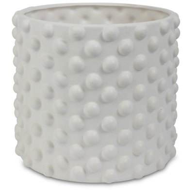 Krukke Boble H16 cm - Hvit