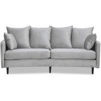 Gotland 3-seter buet sofa - Lysegrå fløyel