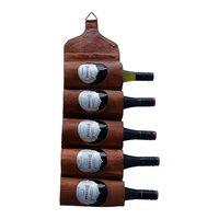 Ulricehamn vinholder - vegghengt (lær)
