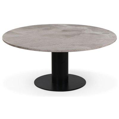 Next 105 rundt stuebord - Svart / marmor (Beige)