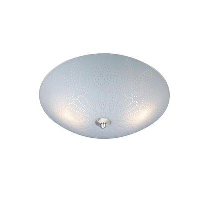 Spets Taklampe - Frostet glass/Stål