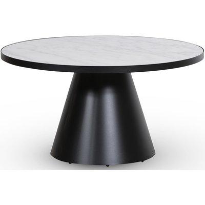 Zero salongbord rundt Ø85 cm - Svart / Hvit marmor