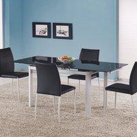 Genevieve spisebord 120-180 cm - Hvit/svart