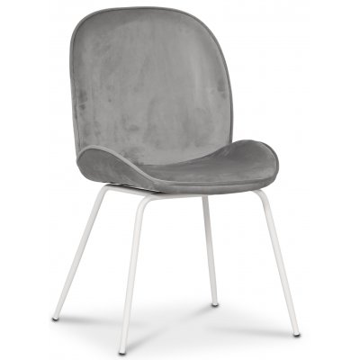 Leo stol - Grå (Fløyel)/hvit