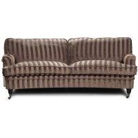 Howard Sir William buet sofa (Dun) - Mobus Chocolate Stripe