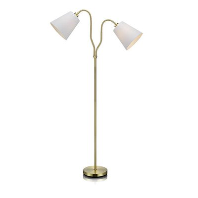Modena Gulvlampe - Messing/Hvit