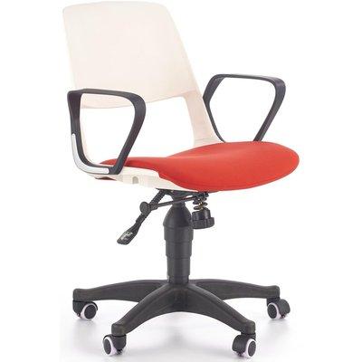 Thorvald kontorstol - Hvit/rød