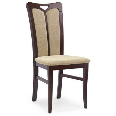 Lola 2 stol - mørk valnøtt/beige