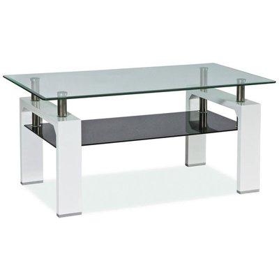 Sofabord Clemson - sort/hvit