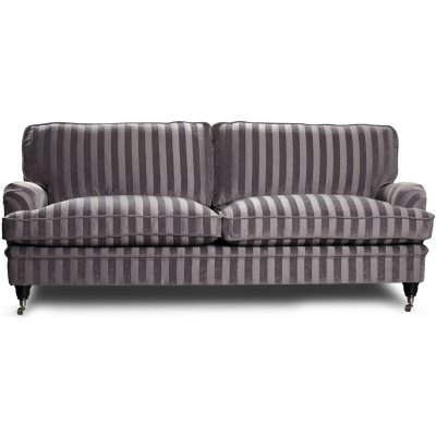 Howard Sir William 3-seter sofa (Dun) - Mobus Silver Stripe