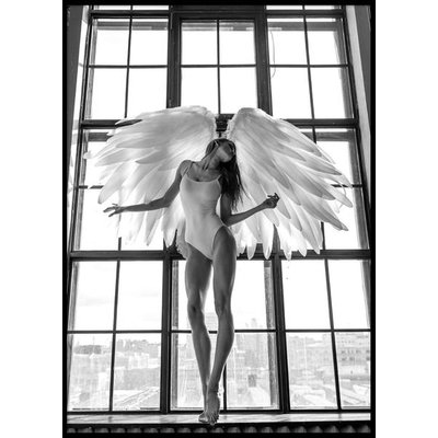 ANGEL WOMAN IN WINDOW - Plakat 50x70 cm