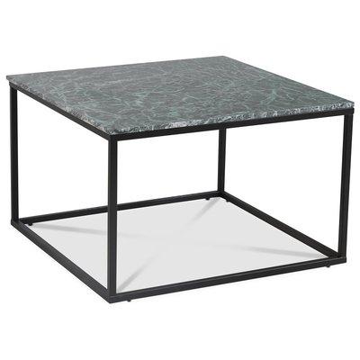 Accent stuebord 75 - Grønn marmor / Svart