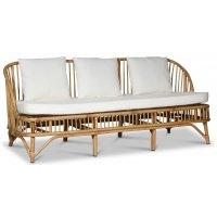 Baboo 3-seters sofa med puter - Rotting natur