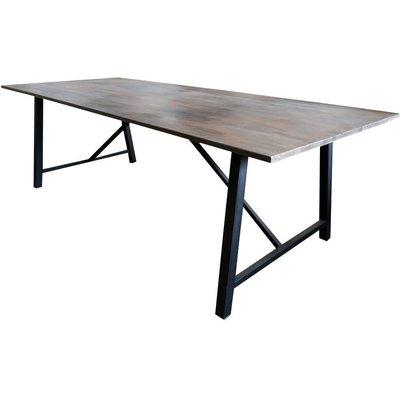 Spisebord Bohuslän 250 cm - Svart / Mørk Teak