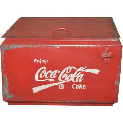 Coca Cola vintage oppbevaringsboks - Metall
