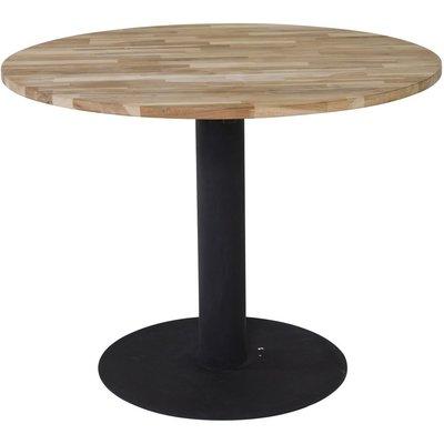 Spisebord Regald ø140 cm - Svart / Naturtre