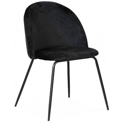 Plaza velvet stol - Svart