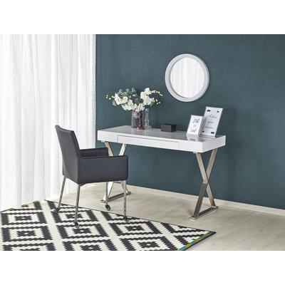 Elliana skrivebord - Hvit/krom