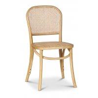 Indiana bøyetre stol - Lyst tre med rottingsete