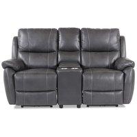 Enjoy Hollywood Biosofa - 2-seter recliner (el) i grått kunstskinn
