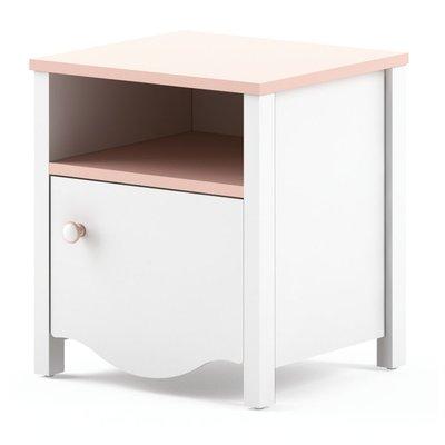 Lettitia nattbord - Hvit/rosa