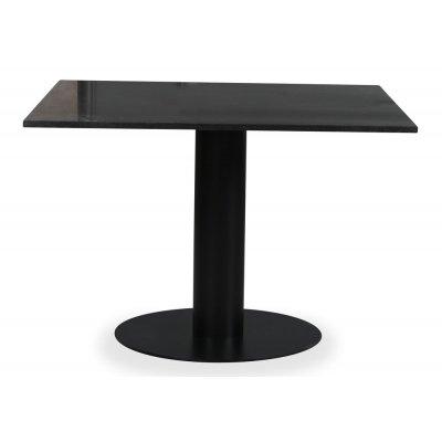 Empire spisebord - Granitt 90x90 cm / Svart metallfot