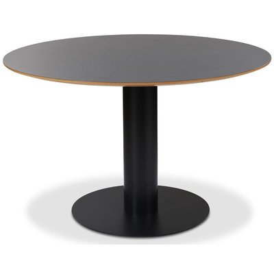 Next 118 rundt spisebord - Svart / Mørke virvler