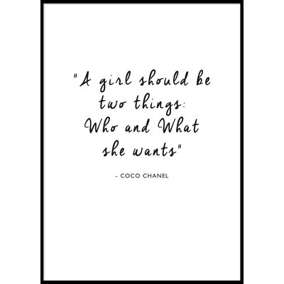 A GIRL SHOULD BE TWO THINGS.. - Plakat 50x70 cm