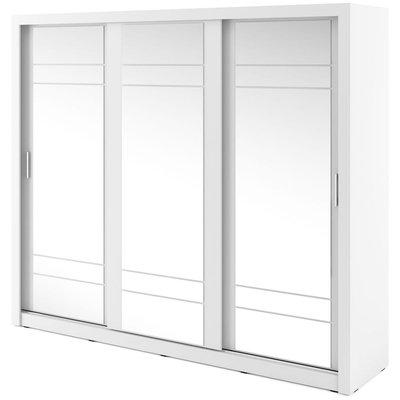 Mervyn garderobe med speil - Hvit