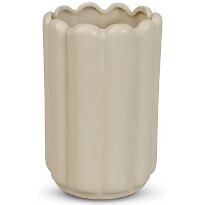 Vase Ribb H23 cm - Beige