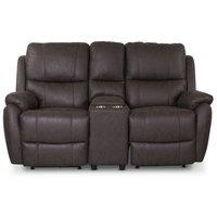 Enjoy Hollywood Biosofa - 2-seter recliner (el) i brunt mikrofiber