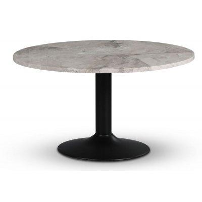 Empire spisebord - Sølv Diana marmor / Svart trompetfot