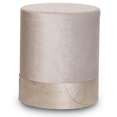 Puffa sittepuff sylinderformet - Beige/Sølv