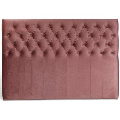 Anna senggavle med knapper (Rosa fløyel) - Valgfri bredde
