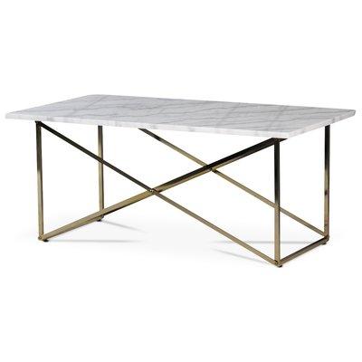 Paladium sofabord - Messing / Ekte lys marmor