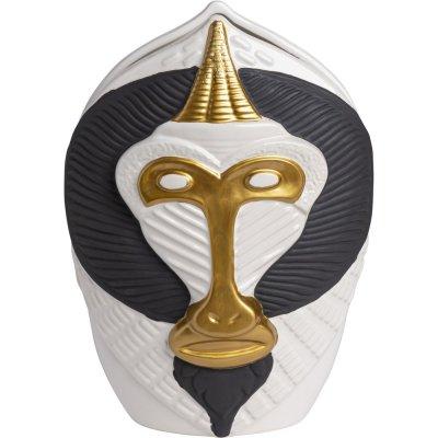 Mandrill vase stor - Svart/hvit