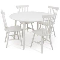 Rosvik spisebord 120 cm - Hvit