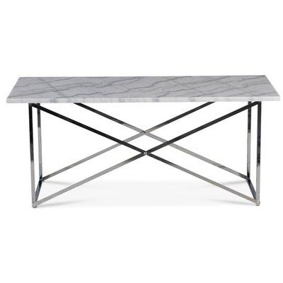 Paladium sofabord - Krom / Ekte lys marmor