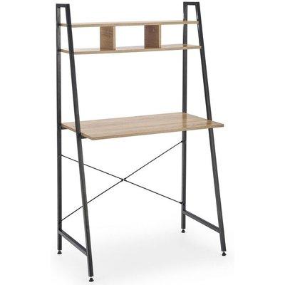 Perlie skrivebord - Sonoma eik/svart