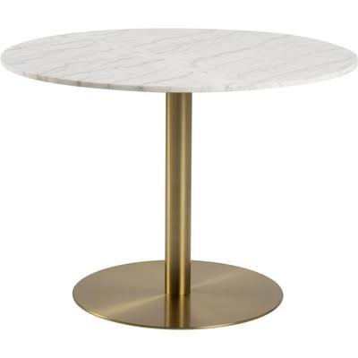 Corby spisebord - Hvit marmor/messing