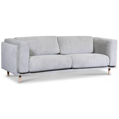 Härnösand 3-seter sofa - Lysegrå chenille